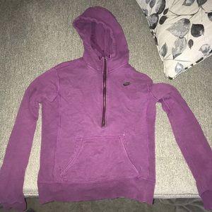 Nike half zip hoodie